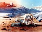 Early sample rendering of the Mars Arctic Research Station